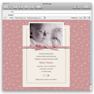 Baby Girl Mail Stationary