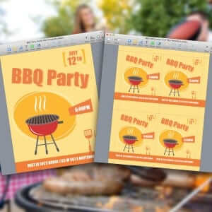 BBQ Party Invite for Pages