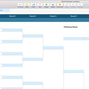 Blank PDF NCAA March Madness Bracket Template