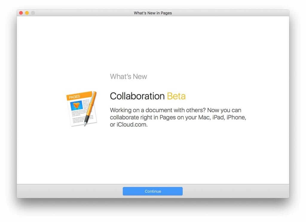 Apple adds Collaboration to the iWork Suite 5