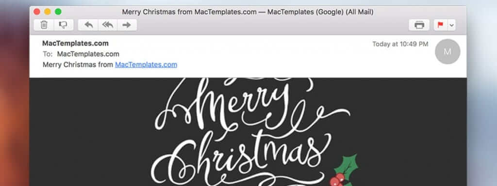 New Christmas Card Email Template for Apple Mail Stationary 7