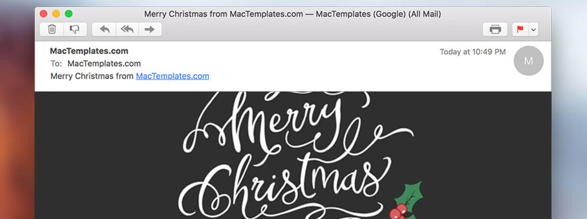 new christmas card email template for apple mail
