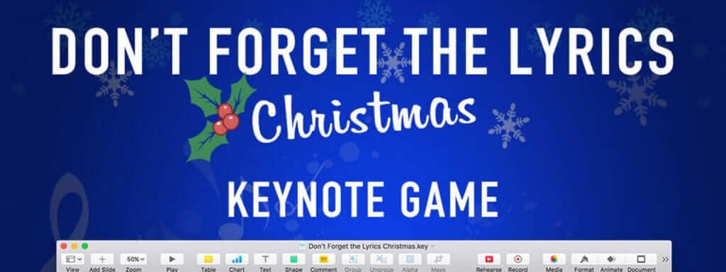 "New Christmas Keynote Game Template - ""Don't Forget the Lyrics Christmas"" 1"