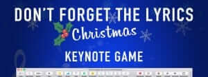 "New Christmas Keynote Game Template - ""Don't Forget the Lyrics Christmas"" 7"