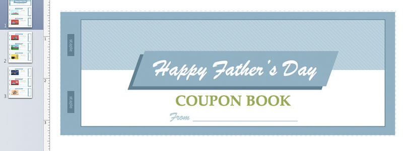 FatherS Day Coupon Book For Apple Pages From MactemplatesCom