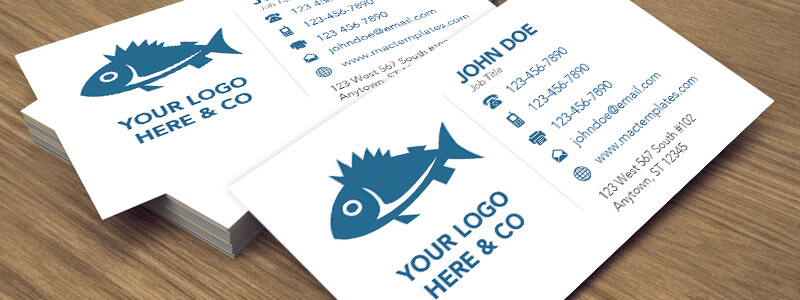 Clean Business Card Template For Pages And Illustrator - Business card template pages