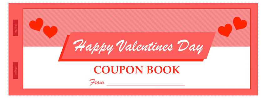 ValentineS Day Coupon Book Template  MactemplatesCom