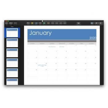 2020 Calendar Template for Pages or PDF 5