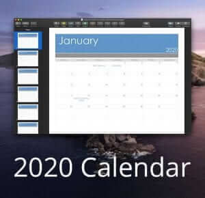 Calendar Template for Pages or PDF Updated for 2020 1