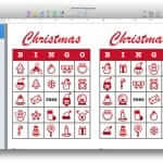 Christmas Bingo Template for Apple Pages