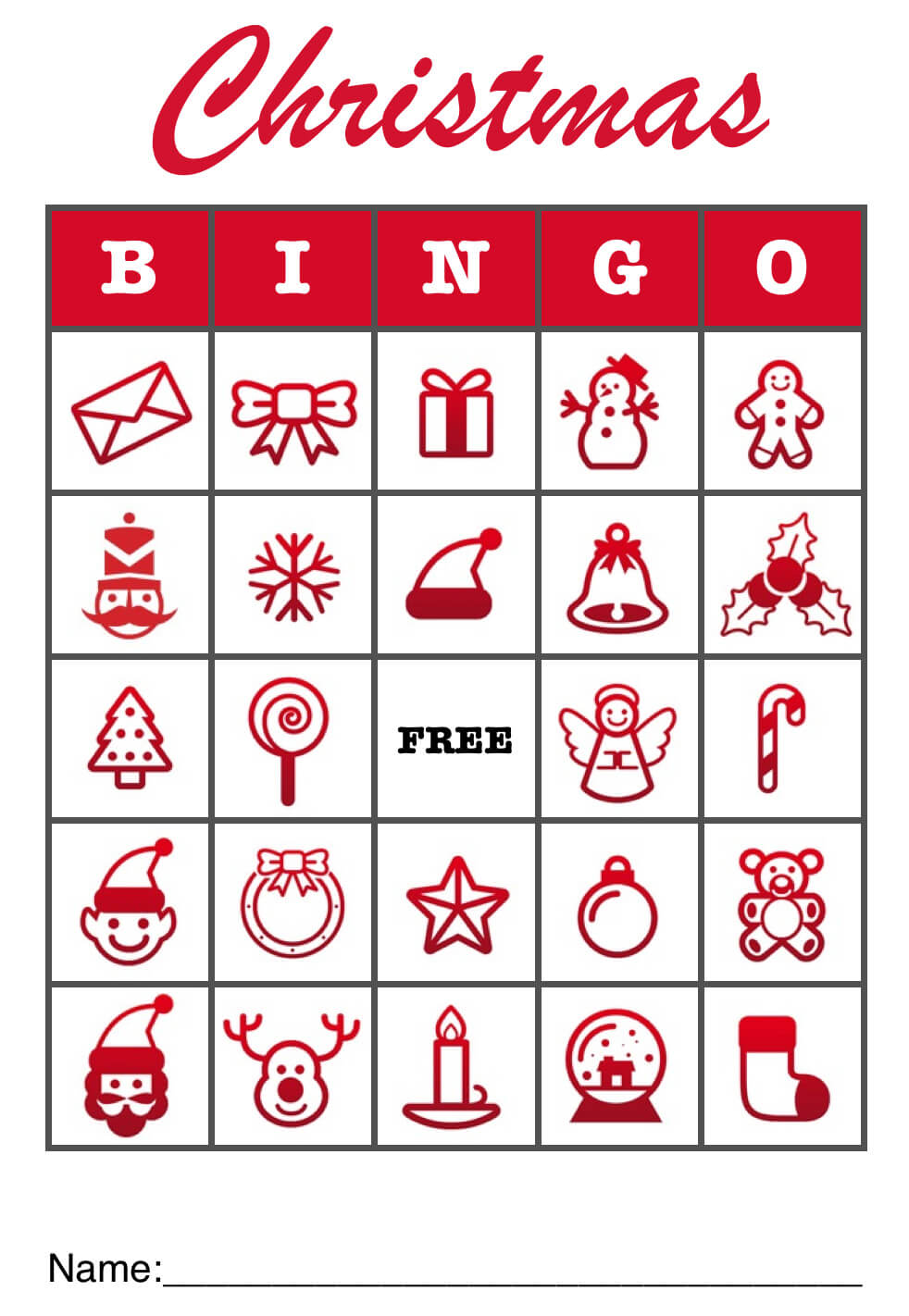 Christmas Bingo christmas bingo template pdf or pages - mactemplates ...