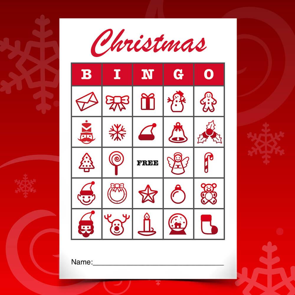 Christmas Bingo Christmas bingo template