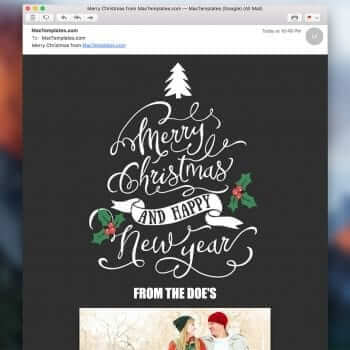 Christmas Card Email Template for Apple Mail Stationary