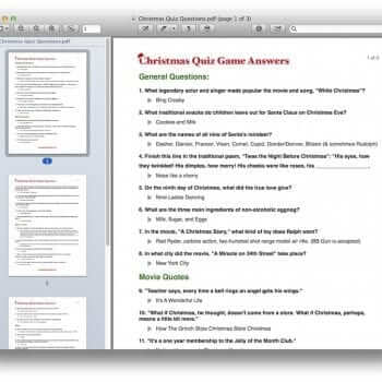 Christmas Quiz Game Template 5