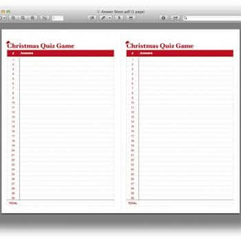 Christmas Quiz Game Template 4