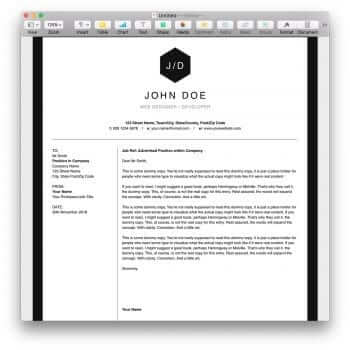 Clean BW Resume Template 4