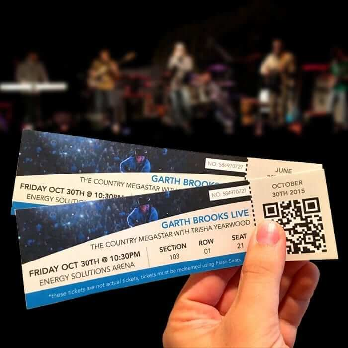 Concert Tickets Template - MacTemplates.com
