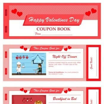 Valentines Day Coupon Book Template