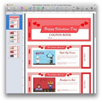 Valentine's Day Coupon Book Template 2