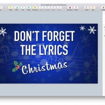 Don't Forget the Lyrics Christmas Keynote Game 7