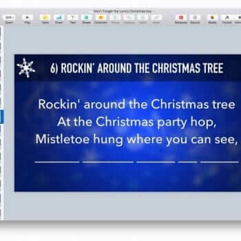 Don't Forget the Lyrics Christmas Keynote Game 8
