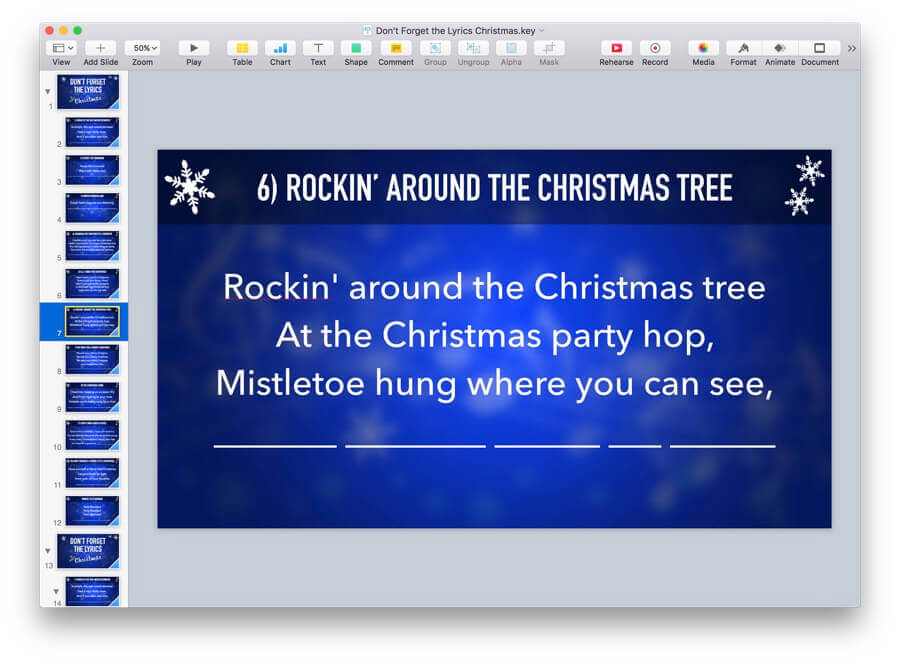 Dont Forget The Lyrics Christmas Powerpoint Game Mactemplates