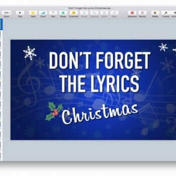 Don't Forget the Lyrics Christmas Keynote Game 9