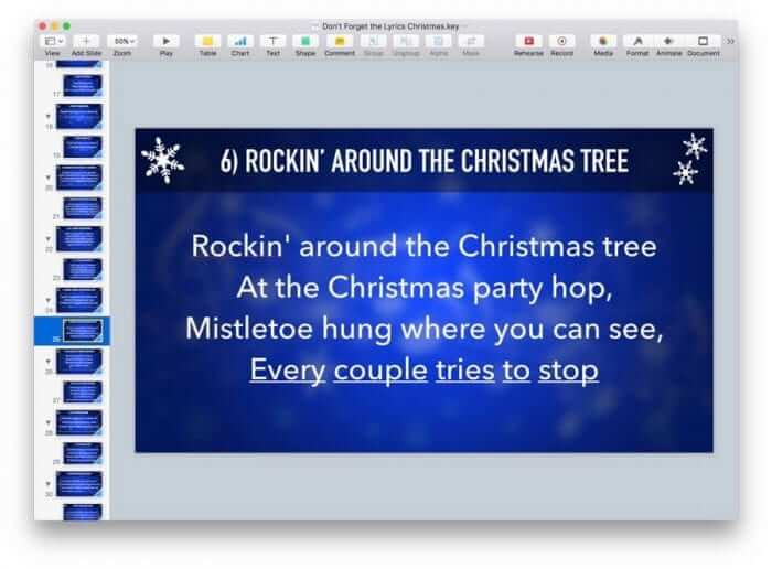 Don't Forget the Lyrics Christmas Keynote Game 5