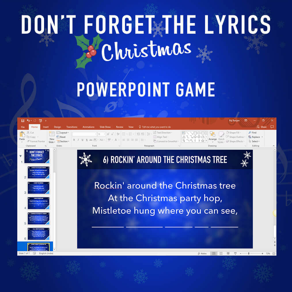 don u0026 39 t forget the lyrics christmas powerpoint game
