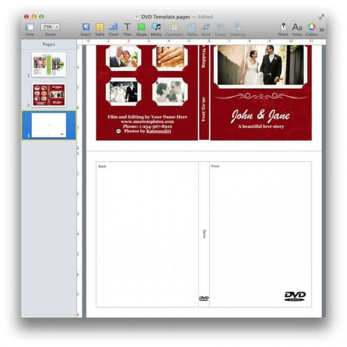 DVD Cover Template Preview