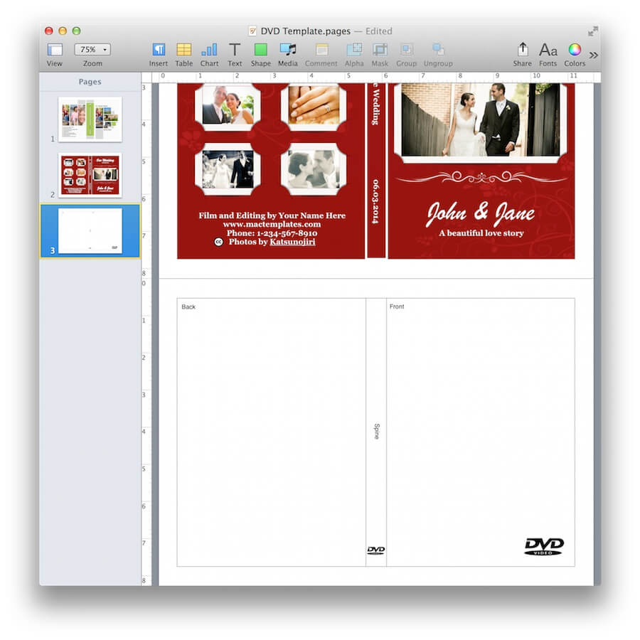 dvd cover template mac dvd cover template for pages