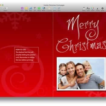 New Family Christmas Card and Christmas Bingo Templates 1