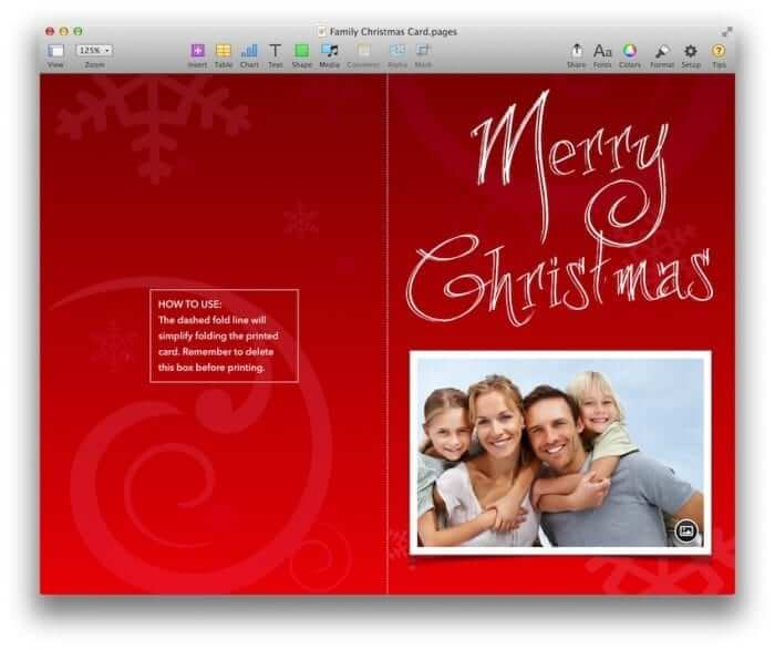 Family Christmas Card Template 1