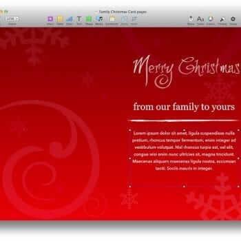 Family Christmas Card Template 4