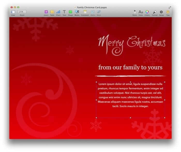 Family Christmas Card Template 2