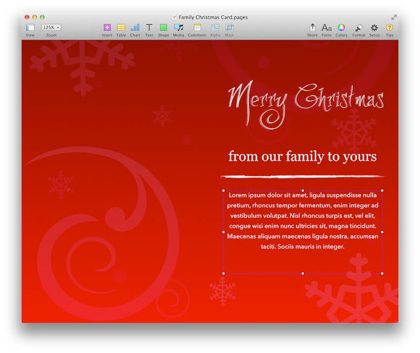 Family Christmas Card Template For Pages Mactemplates Com