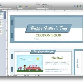 Father's Day Coupon Book for Pages