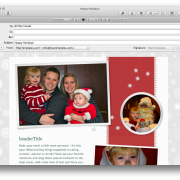 Apple Mail Holiday Stationary Example