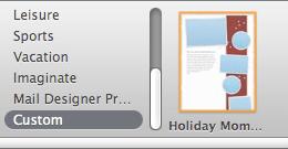 Apple Mail Holiday Stationary Thumb