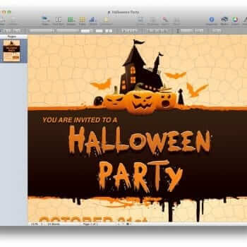 Halloween Party Invitation Template 3