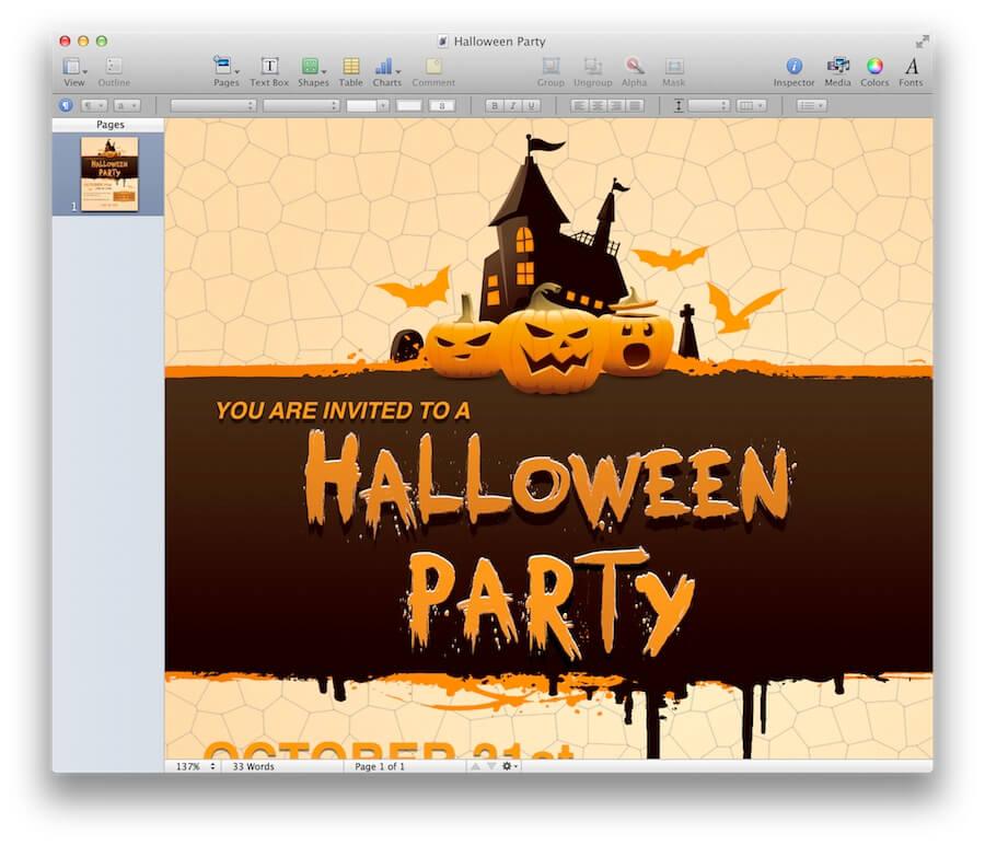 halloween party invitation template - Halloween Party Invitation Template