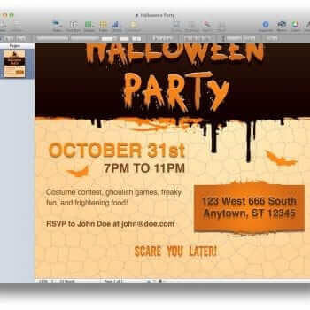 Halloween Party Invitation Template 4