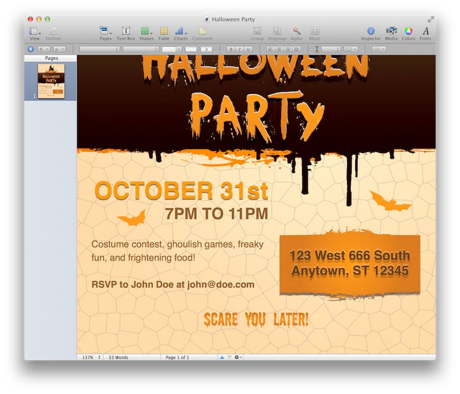 Clever Jeopardy Categories: Halloween Party Invitation For Pages