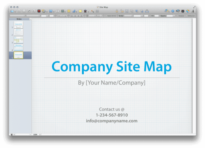 Site Map Presentation 3