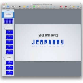 Keynote Jeopardy Template Topic Example