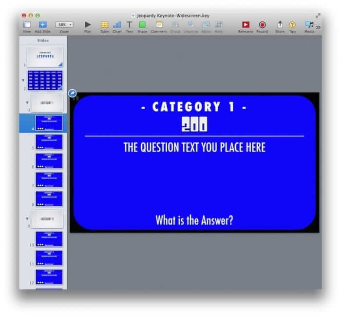 Keynote Jeopardy Template Question Example