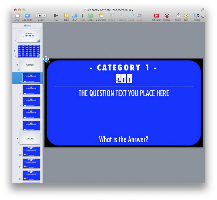 Powerpoint Jeopardy Template For Ipad And Widescreen