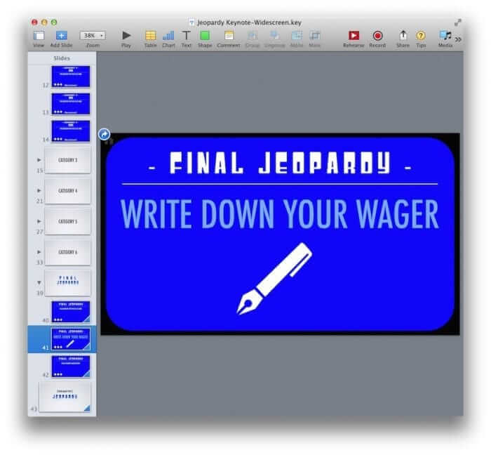 Keynote Template Final Jeopardy
