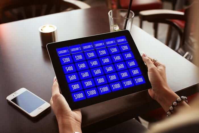 Keynote Jeopardy Template on iPad