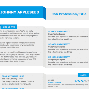 Modern Fold Resume Template for Pages 7